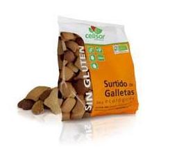 Surtido de galletas, 200g, s/gluten. Celisor.